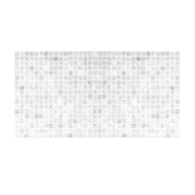 Minimo Marble 22.56 in W x 11.58 in. H Gray Peel and Stick Self-Adhesive Mosaic Wall Tile Backsplash (2-Pack)