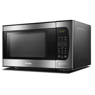 0.9 cu. ft. Countertop Microwave in Black and Stainless