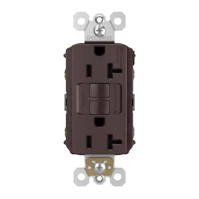 radiant 20 Amp 125-Volt Tamper Resistant Self-Test GFCI Duplex Outlet, Dark Bronze