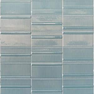 Magnitude Echo Blue 4 in. x 8 in. x 7.5mm Polished Ceramic Subway Wall Tile (50 pieces / 10.76 sq. ft. / box)