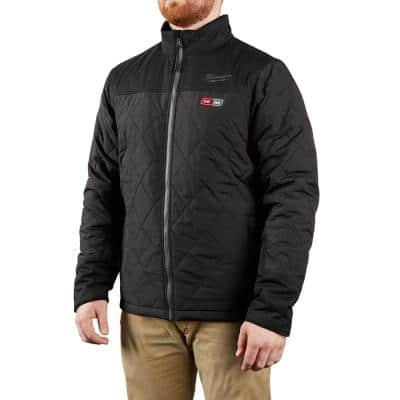 Men's Medium M12 12-Volt Lithium-Ion Cordless AXIS Black Heated Quilted Jacket (Jacket Only)