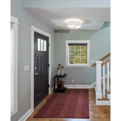36 in. x 36 in. W-2500 Series White Painted Clad Wood Right-Handed Casement Window with Colonial Grids/Grilles