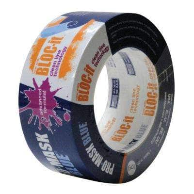 1.88 in. x 60 yds. ProMask Blue Painter's Tape with Bloc It