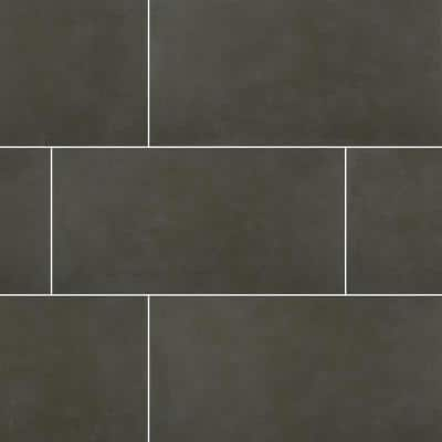 Metro Anthracite 12 in. x 24 in. Matte Porcelain Floor and Wall Tile (14 sq. ft./Case)