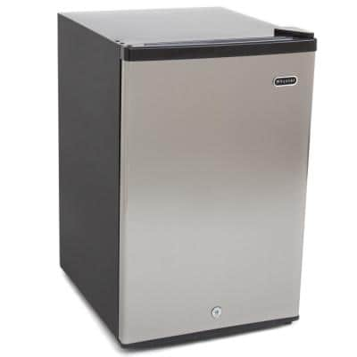 3.0 cu. ft. Upright Freezer with Lock in Stainless Steel ENERGY STAR