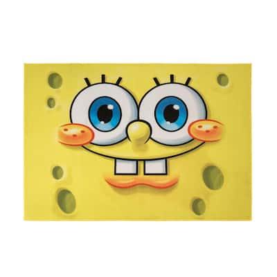 Spongebob Square Pants Multi-Colored 5 ft. x 7 ft. Indoor Juvenile Area Rug