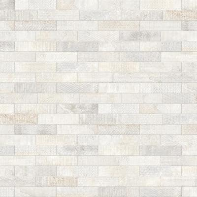 Brickbold Almond 3 in. x 13 in. Glazed Porcelain Decorative Wall Tile (0.29 sq. ft./Each)
