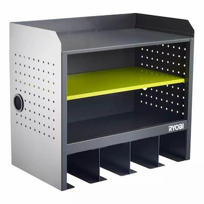 Steel 3-Shelf Wall Mounted Garage Cabinet in Platinum (17 in W x 11 in H x 19 in D)