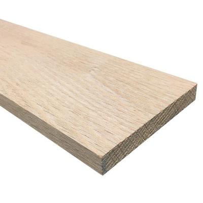 1/2 in. x 4 in. x 4 ft. Hobby Board Kiln Dried S4S Oak Board (20-Piece)