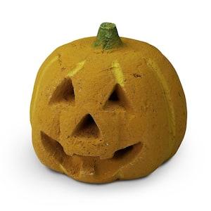 Halloween Carved Pumpkin Ceramic Fire Pit Decoration Fireproof Novelty Decor