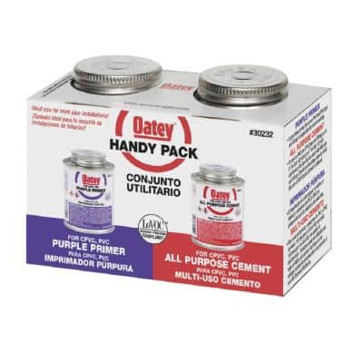 8 oz. Purple CPVC and PVC Primer and Medium Milky All-Purpose ABS, CPVC, PVC Cement Combo Pack