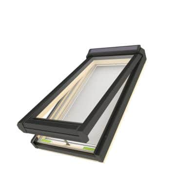 FVS 30-1/2 in. x 54 in. Rough Opening Solar Powered Venting Deck-Mounted Skylight with Laminated Low-E Glass