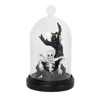 LED Rising Skeleton Dome Garden Statue