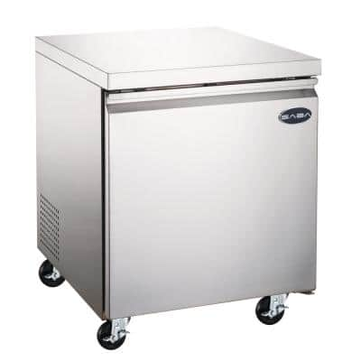 6.3 cu. ft. Commercial Under Counter Freezer in Stainless Steel