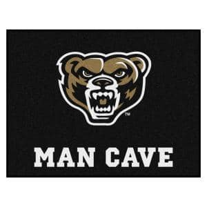 NCAA Oakland University Gold 3 ft. x 4 ft. Man Cave All Star Rug