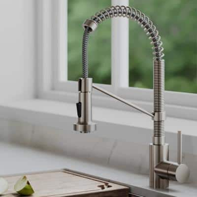 Bolden Single-Handle Pull-Down Sprayer Kitchen Faucet with Dual Function Sprayer in Spot-Free Stainless Steel