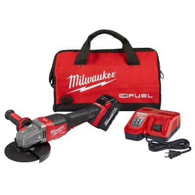 M18 FUEL 18-Volt Lithium-Ion Brushless Cordless 4-1/2 in./6 in. Grinder with Paddle Switch Kit and One 6.0 Ah Battery