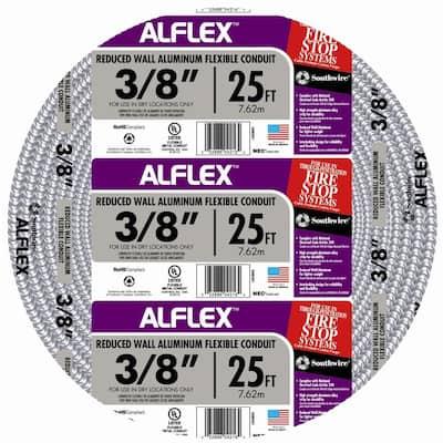 3/8 in. x 25 ft. Alflex RWA Metallic Aluminum Flexible Conduit