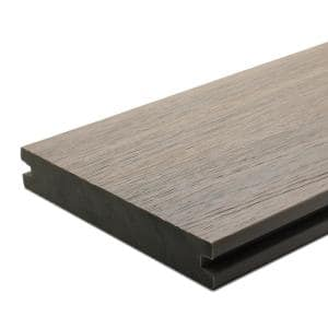 UltraShield Naturale Magellan 1 in. x 6 in. x 4 ft. Roman Antique Solid with Groove Composite Decking Board (4-Pack)