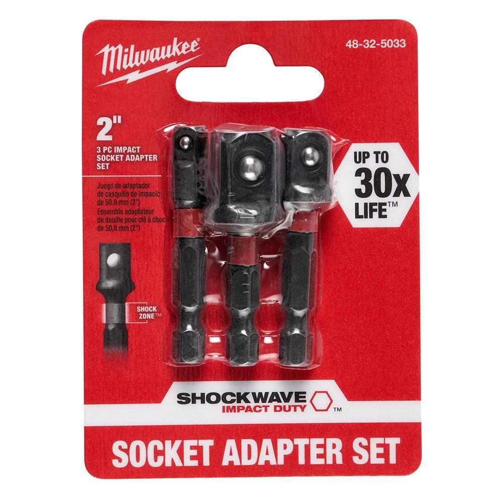 """Impact tools Socket Convertisseur Adaptateur Set De à 1//4/"""" 3//8/"""" 1//2/"""" 3//4/"""" 1/"""" 8pcs"""