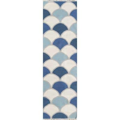 Topanga Dasha Blue 2 ft. 3 in. x 8 ft. Runner Rug