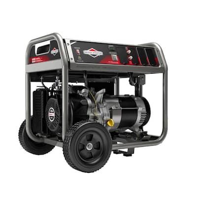 5,000-Watt Gasoline Powered Manual Start Portable Generator with Engine