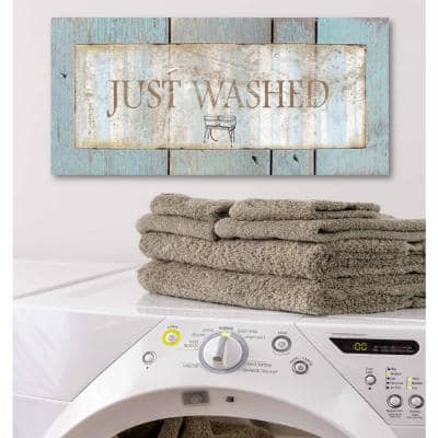 """12 in. x 24 in. """"Laundry Room III"""" Canvas Printed Wall Art"""