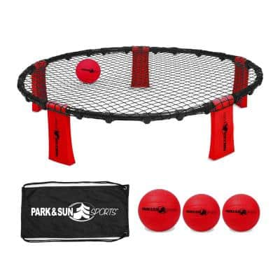 Rally Fire Portable Spike Volleyball Game Set with Accessories