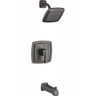 Townsend Tub and Shower Faucet Trim Kit for Flash Rough-in Valves in Legacy Bronze (Valve Not Included)