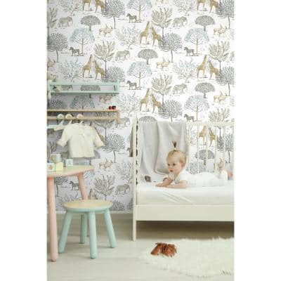 On The Savanna Spray and Stick Wallpaper (Covers 56 sq. ft.)