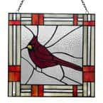Red Cardinal Stained Glass Window Panel
