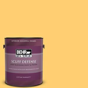 Behr Ultra 1 Gal 320b 6 Mellow Yellow Extra Durable Eggshell Enamel Interior Paint Primer 275401 The Home Depot