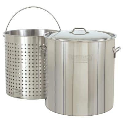 162 qt. Stainless Steel Stock Pot with Lid