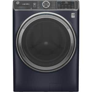 5.0 cu. ft. Sapphire Blue Front Load Washing Machine with OdorBlock UltraFresh Vent System with Sanitize and Allergen
