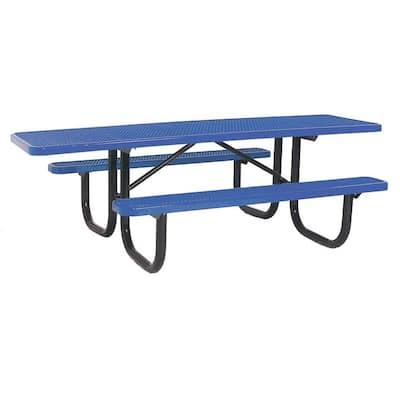 8 ft. Diamond Blue Commercial Park ADA Rectangular Portable Table