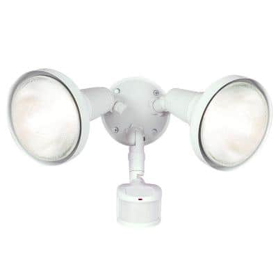180° White Motion Activated Sensor Outdoor Security Flood Light with Lamp Cover