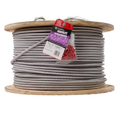 12/2 x 1,000 ft. Stranded CU MC (Metal Clad) Armorlite Cable