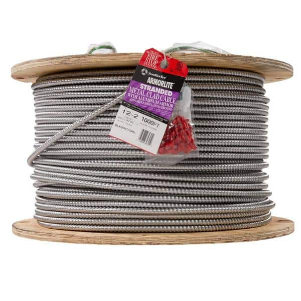 Southwire 12 2 X 1 000 Ft Stranded Cu Mc Metal Clad Armorlite Cable 69114702 The Home Depot