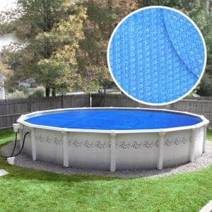 Deluxe 3-Year 24 ft. Round Blue Solar Pool Cover