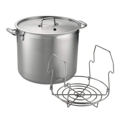 22 qt. Stainless Steel Canning Stock Pot with Rack