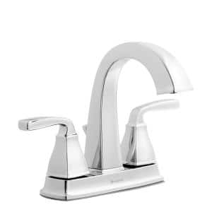 Mason 4 in. Centerset 2-Handle High-Arc Bathroom Faucet in Chrome