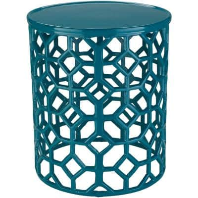 Athina Teal Accent Table
