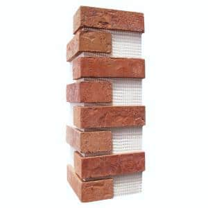Brickwebb Cordova Thin Brick Sheets - Corners (Box of 3 Sheets)  21 in x 15 in (5.3 linear ft.)