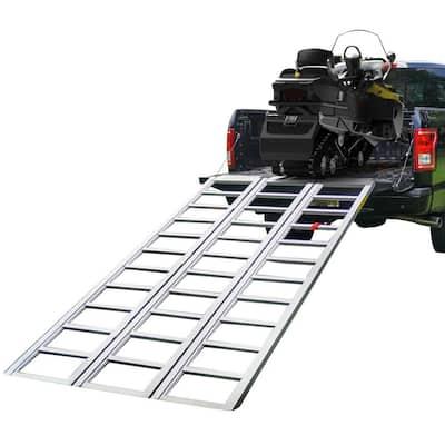7 ft. L Aluminum Tri-Panel Full-Width Snowmobile Ramp Set