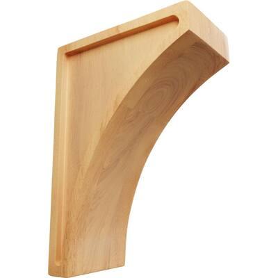 3 in. x 8 in. x 5-1/2 in. Red Oak Medium Lawson Wood Corbel