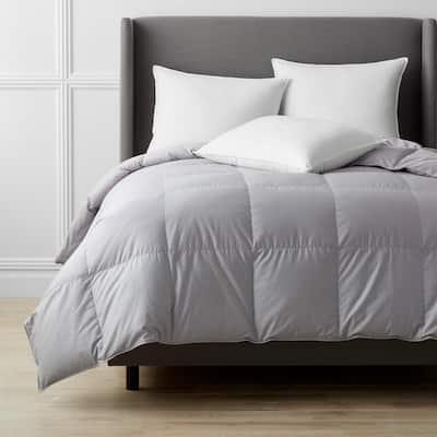 Alberta Medium Warmth Platinum Full Euro Down Comforter