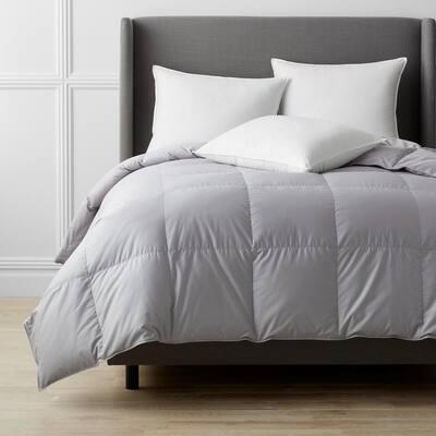 Alberta Medium Warmth Platinum King Euro Down Comforter