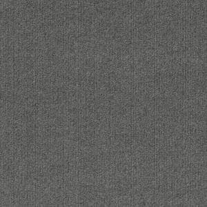 First Impressions Sky Grey Ribbed Texture 24 in. x 24 in. Commercial Peel and Stick Carpet Tile (15-tile / case)