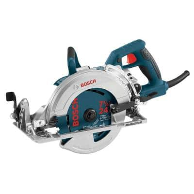 15 Amp 7-1/4 in. Corded Magnesium Worm Drive Circular Saw with Carbide Blade
