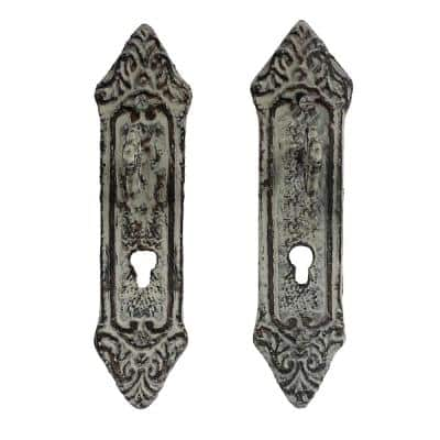 Lavish Home Cast Iron Rustic Decorative Key In Lock Wall Mount Hooks 2 Pack In White Hw0200026 The Home Depot